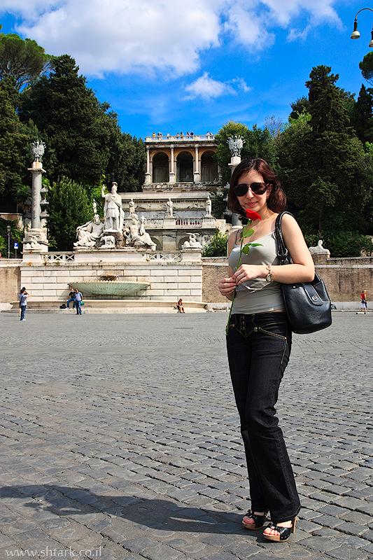 אירופה, איטליה, פיאצה דל פופולו, רומא, אובליסק פלמינו,  Italy, Rome, Roma, Piazza del Popolo, obelisco Flaminio