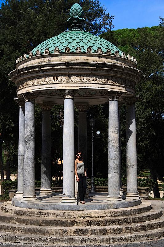 אירופה, איטליה, רומא, פארק וילה בורגזה, מקדש טמפייטו די מינרווה, Italy, Rome, Roma, Villa Borghese gardens, Tempietto di Minerva