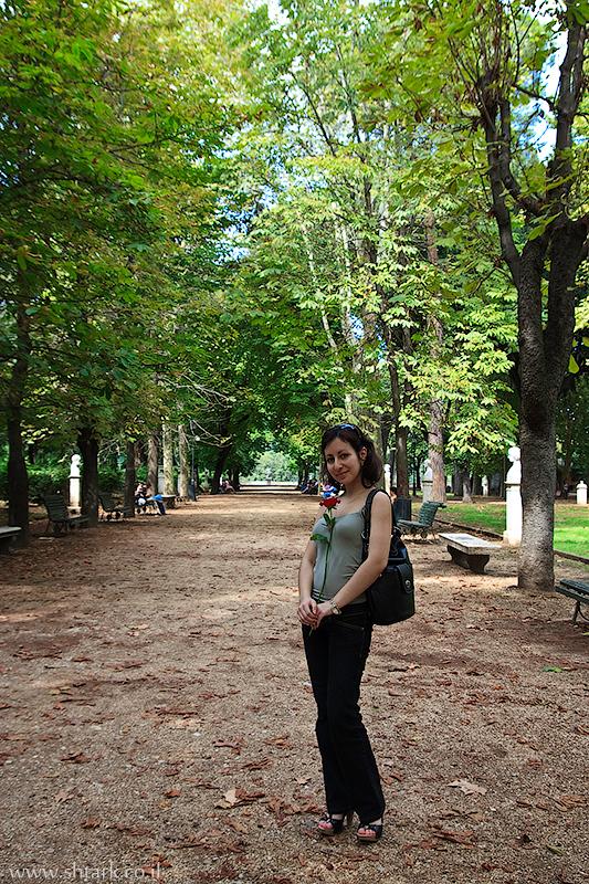אירופה, איטליה, רומא, פארק וילה בורגזה שעל הפינצ'ו Italy, Rome, Roma, Villa Borghese gardens