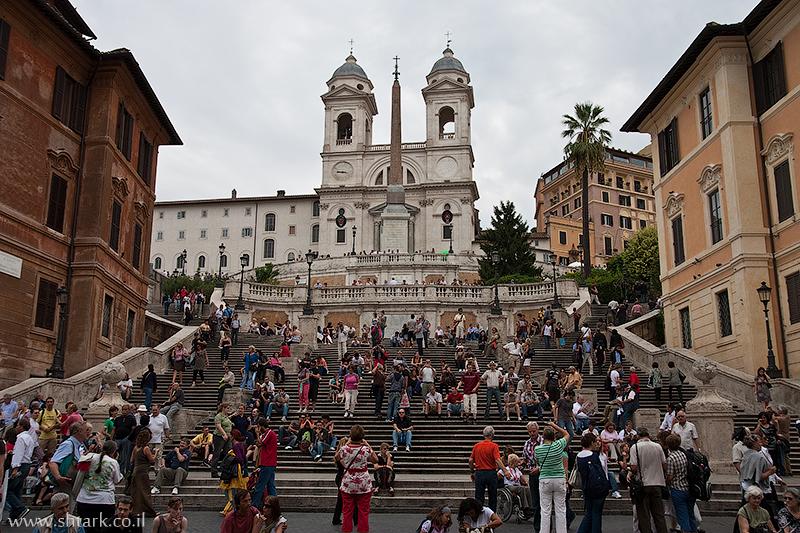 פיאצה די ספגנה, אירופה, איטליה, רומא, מדרגות ספרדיות ,  Italy, Rome, Piazza di Spagna, Spanish Steps
