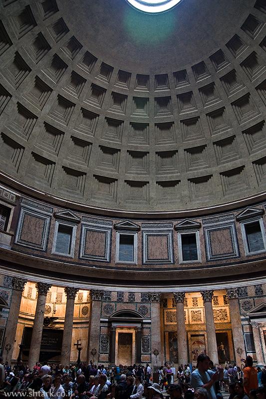 מרקוס אגריפה, פנתאון אוקולוס, מקדש כל האלים, איטליה, רומא   Italy, Rome, The Pantheon Oculus Temple Marcus Agrippa