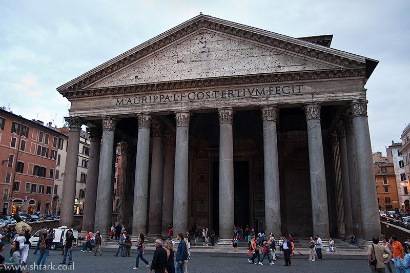 מרקוס אגריפה, פנתאון, מקדש כל האלים, איטליה, רומא Italy, Rome, The Pantheon Temple Marcus Agrippa