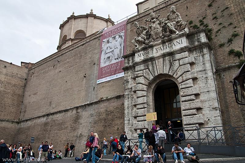 אירופה, איטליה, חומת מוזיאון הוותיקן,  Italy, Rome, Roma, Vatican City, museums
