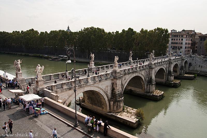 אירופה, איטליה, רומא העתיקה, גשר סנטאנג'לו, טיבר,  Italy, Roma, Tevere, Ponte Sant'Angelo