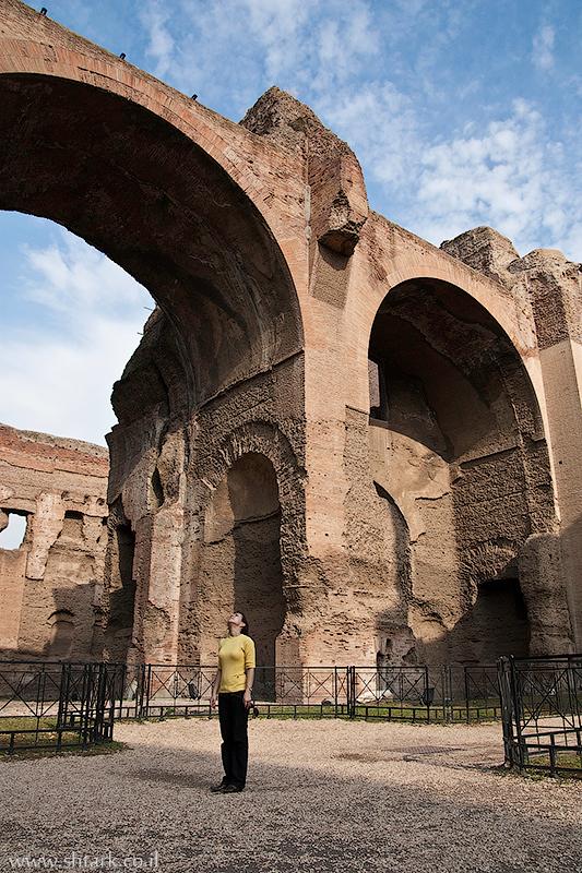 אירופה, איטליה, רומא, שרידי מרחצאות קרקלה,  Roma, Caracalla