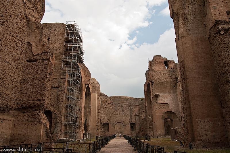 אירופה, איטליה, רומא, שרידי מרחצאות קרקלה,  Italy, Rome, Caracalla