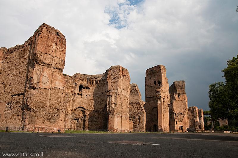 אירופה, איטליה, רומא, שרידי מרחצאות קרקלה,  Rome, Caracalla