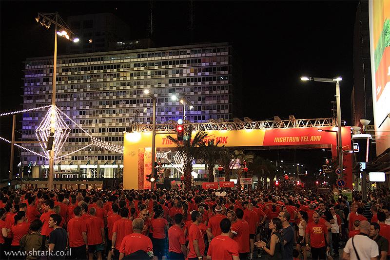 מרוץ הלילה של נייקי, עירייה, כיכר רבין, Nike Night Run Tel Aviv