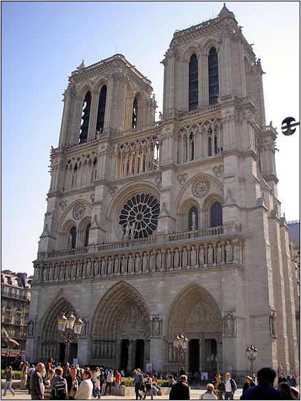 צרפת, פריז - קתדרלת נוטרדאם דה פארי, מבט מקדימה